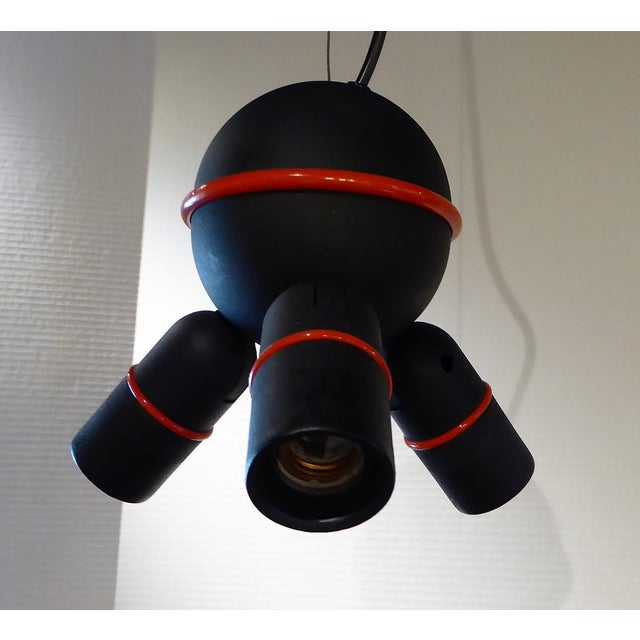 1970s Roger Tallon for LIFA, French 70s Suspension Mod Op Pop Pendant For Sale - Image 5 of 10