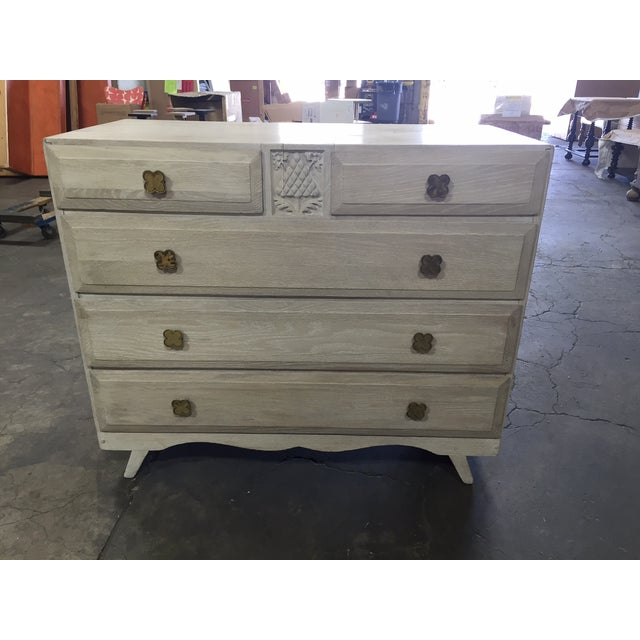 English Limed Oak Chest For Sale - Image 4 of 8
