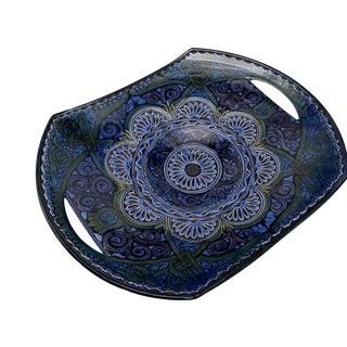 Vintage Safi Moroccan Terra Cotta Platter For Sale