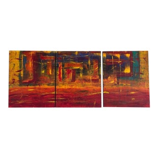 Dave Lundgren American Abstract Paintings - Set of 3 For Sale