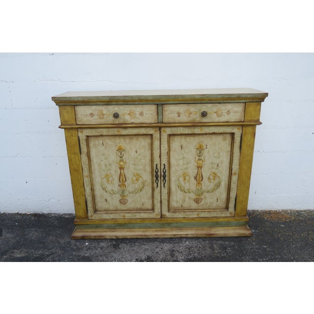 This classic French Sideboard is made of wood, and is in good condition. This piece has exquisite French Shabby Shic style...