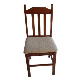 1980s Vintage Wood Dining Chair For Sale