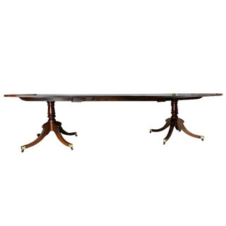 Regency Mahogany Two Pedestal Dining Table For Sale