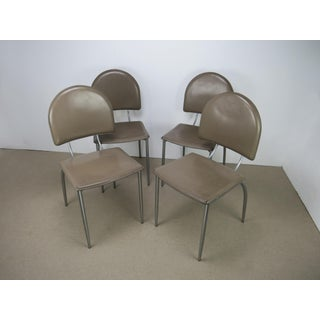 1970s Vintage Italian Sculptural Dining Side Chairs - Set of 4 Preview