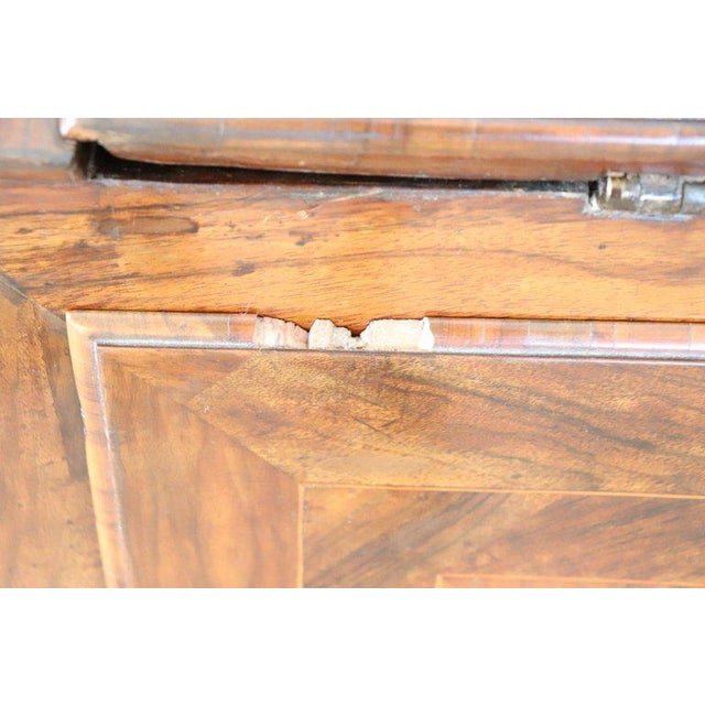 18th Century Italian Louis XVI Inlay Wood Chest of Drawers With Secretaire For Sale - Image 11 of 13