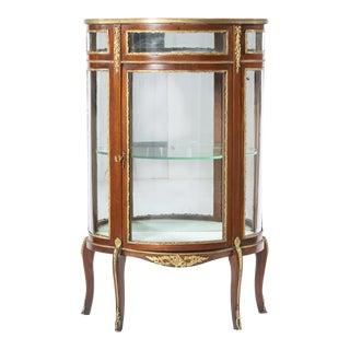 Bronze Mounted Louis XV Demilune Shape Case Cabinet For Sale