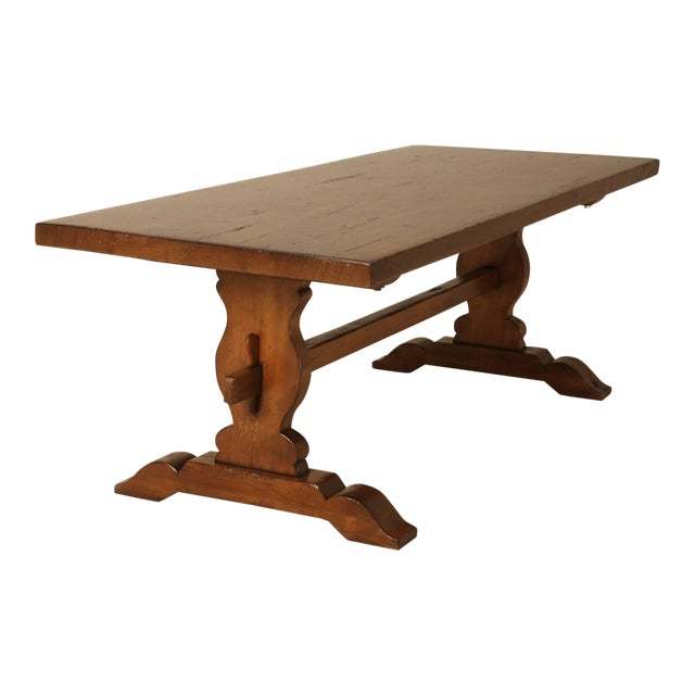 The only French trestle table we have ever seen made from solid mahogany and looks to be from the early 1900s. There is a...