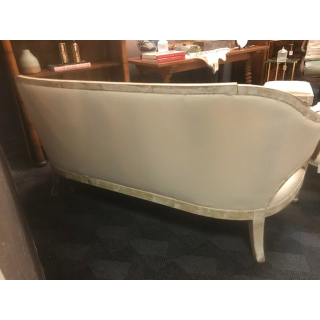 18th Century Antique Swedish White Settee For Sale - Image 5 of 10