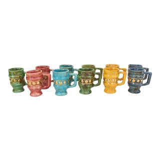California Pottery Mugs - a Set of 11 For Sale