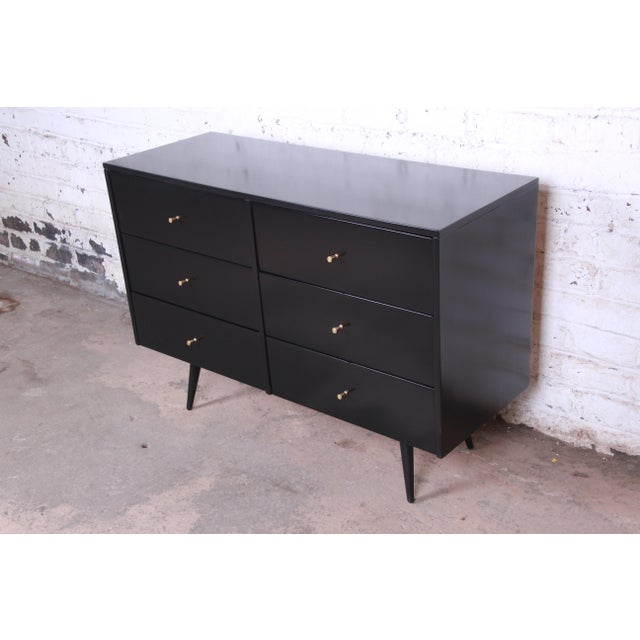 Planner Group Paul McCobb Planner Group Ebonized Six-Drawer Dresser, Newly Restored For Sale - Image 4 of 11