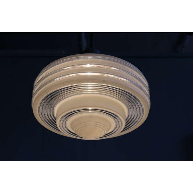 Glass Frosted Glass Ceiling Fixture For Sale - Image 7 of 10