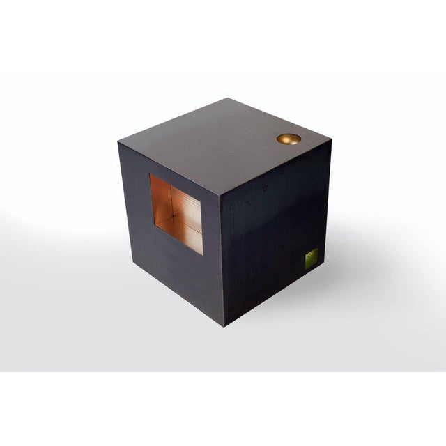 Brass Cube Side Table by Harry Clark For Sale - Image 7 of 7