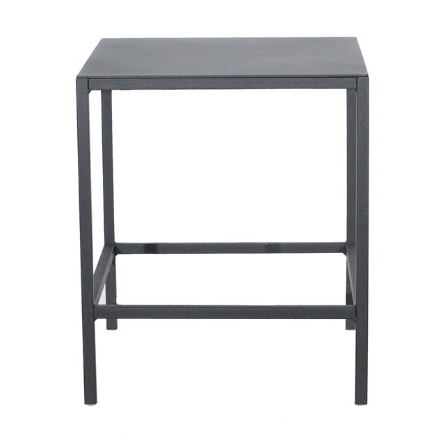 Black Cube Side Table - Image 1 of 3