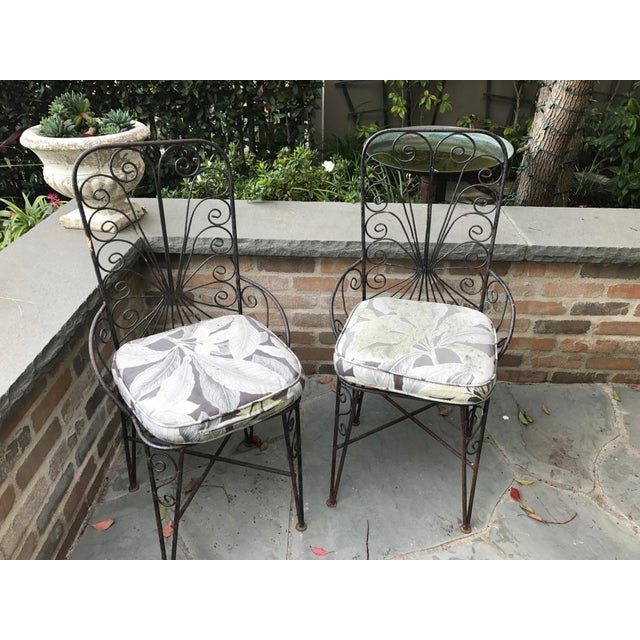 Vintage Petite Iron Chairs - A Pair - Image 4 of 6