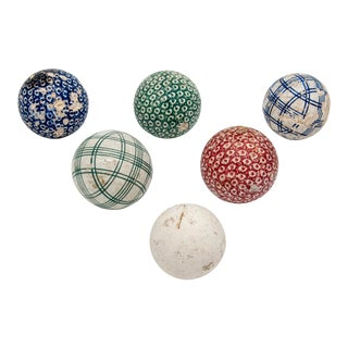 Late 19th Century Carpet Balls - Set of 6 For Sale