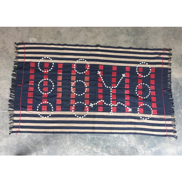 Vintage African Cowrie Shell Throw Blanket - Image 2 of 5