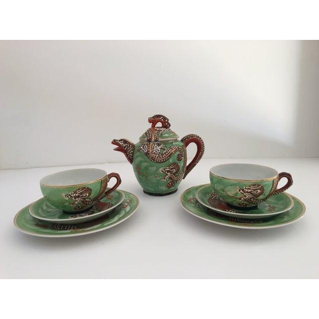 1940's Nagoya Moriage Dragon Ware Tea Set - 7 - Image 2 of 11