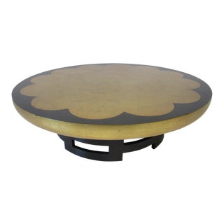 Kittinger Asian Regency Styled Lotus Coffee Table For Sale