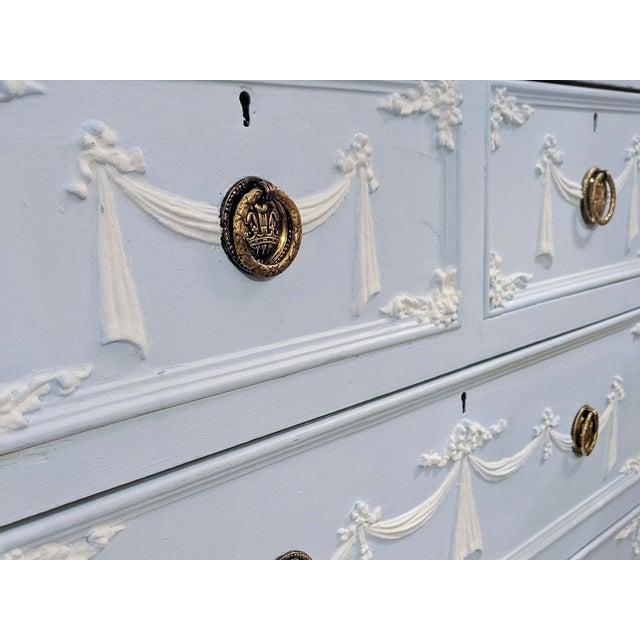 Early 20th Century Adams Style Tall Chest of Drawers, English For Sale - Image 10 of 11