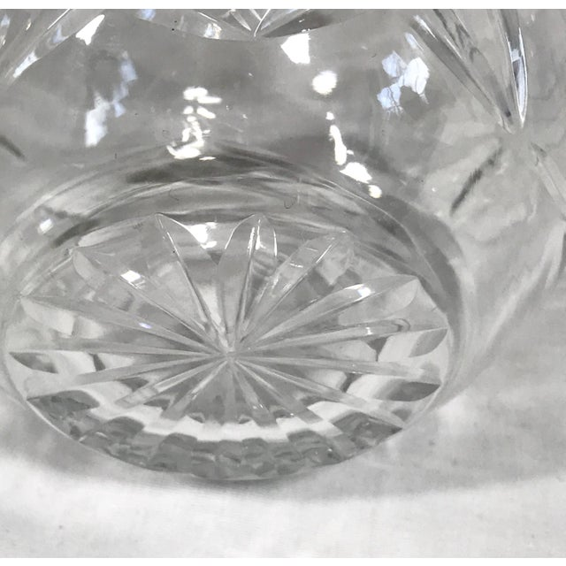 Heavy Wheel Cut Crystal Cream Pitcher For Sale In Raleigh - Image 6 of 7
