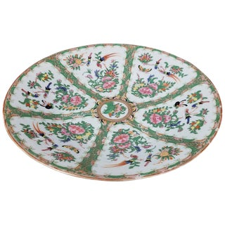 Canton Rose Charger, 19th Century For Sale