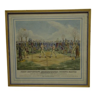 """First Important International Boxing Match"" Framed Original Print For Sale"