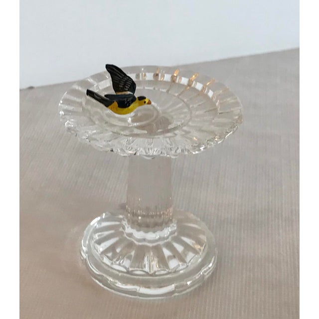 Traditional Vintage Waterford Crystal Birdbath For Sale - Image 3 of 10