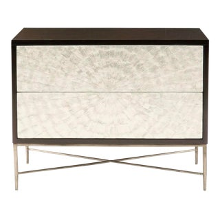 Contemporary Adagio Bachelor's Chest With Inlaid Capiz Shells For Sale
