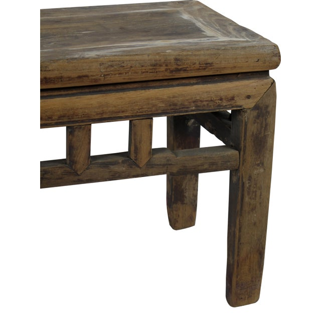 1940s Rustic Shandong Elm Bench For Sale - Image 5 of 6