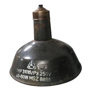 Mid 19 Century Rustic Bronze Metal Pendant Light