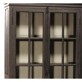 Black Reclaimed Pine Glass Door Cabinet Preview