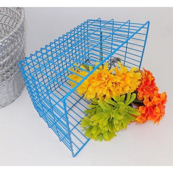 Blue Wire Basket | Chairish