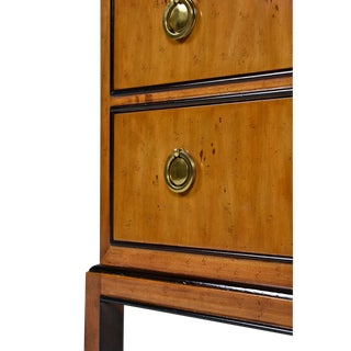 Drexel Heritage Hollywood Regency Burlwood & Brass Nightstands Preview
