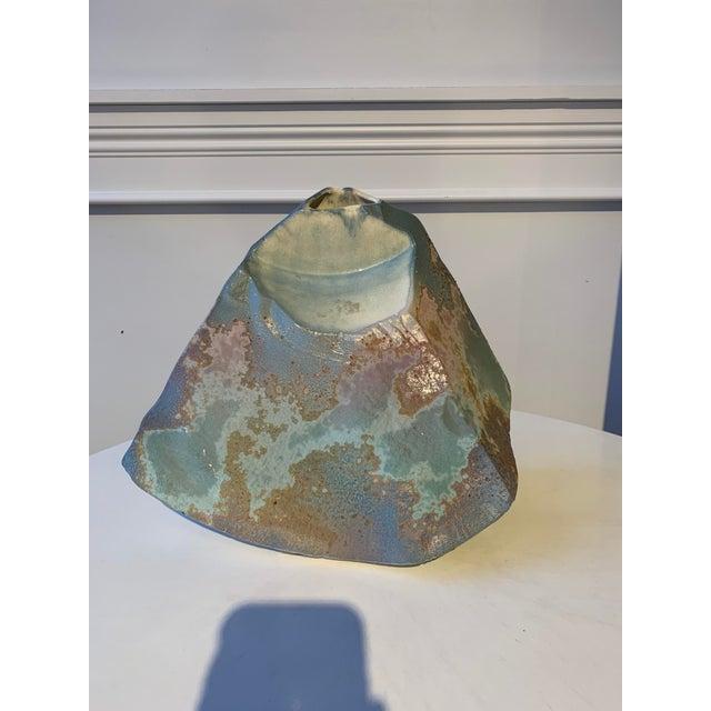 Ceramic Signed Tony Evans Raku Sculptural Vase For Sale - Image 7 of 7