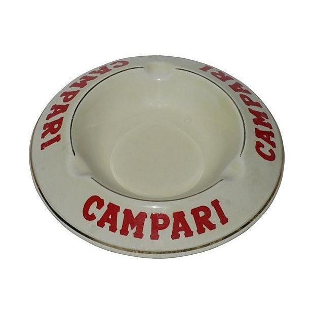 Vintage French Campari Bistro Ashtray - Image 1 of 3