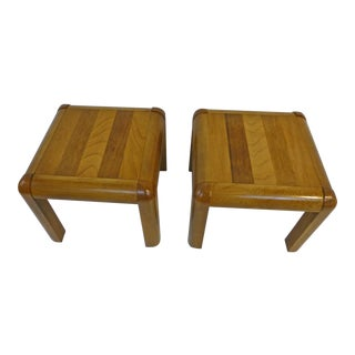 Mid-Century Modern Vintage Lane End Tables - a Pair