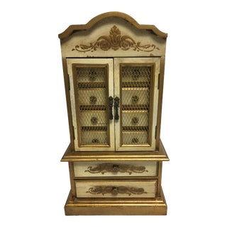 Florentine Musical Jewelry Chest For Sale