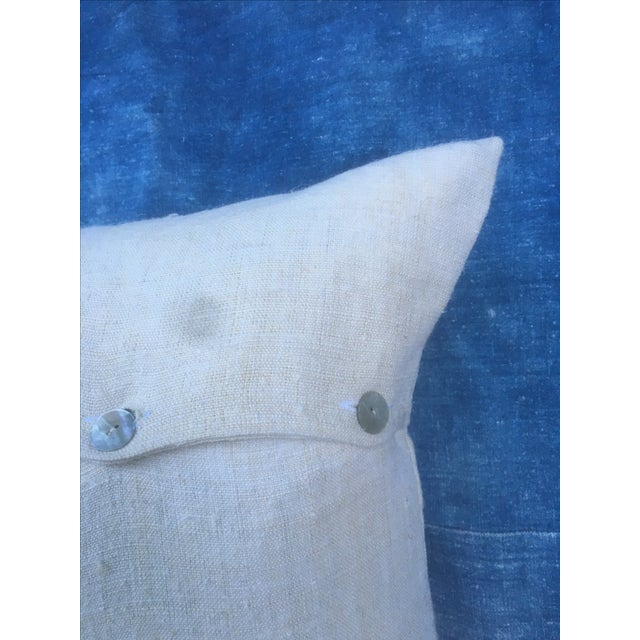 European Grain Sack Pillow For Sale In Los Angeles - Image 6 of 6