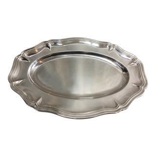 Georgian Silverplate Oval Serving Bowl For Sale