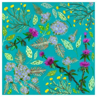 """""""Wildflowers Santolina"""" Kenneth Ludwig Chicago Contemporary Canvas Art by Eli Hilpin For Sale"""