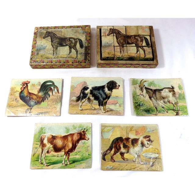Antique Childs Wood Block Puzzle Set For Sale - Image 13 of 13