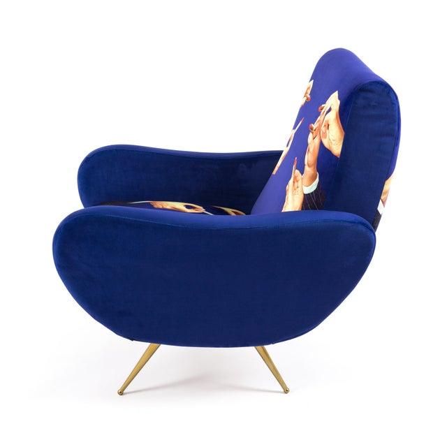 Contemporary Seletti, Lipsticks Armchair, Blue, Toiletpaper, 2018 For Sale - Image 3 of 7
