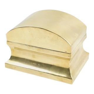 Neoclassic Brass Urn Box Tea Caddy For Sale
