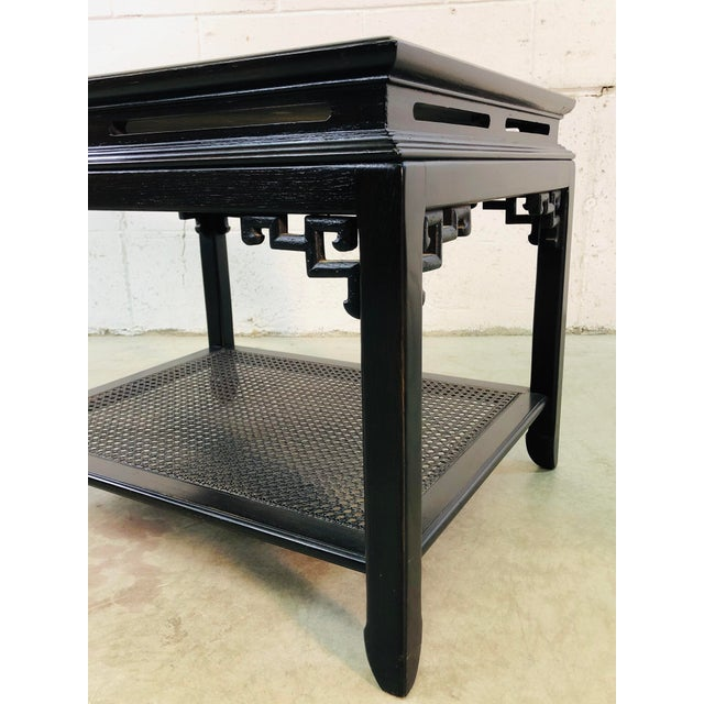 Vintage Hekman Furniture Asian Modern Side Tables, Pair For Sale - Image 11 of 13