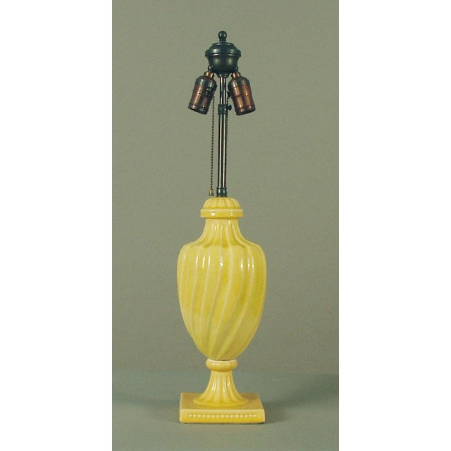 1920s Original Mint High Glaze Yellow Art Deco Pottery Lamp by Cowan For Sale In San Francisco - Image 6 of 6