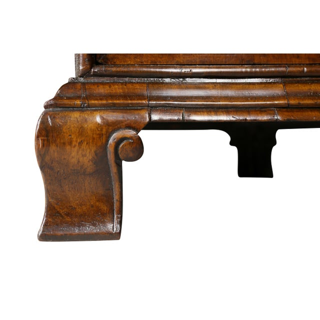 Brown George II Style Walnut Pedestal Desk For Sale - Image 8 of 12
