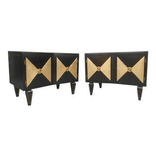 David R. Harrison Vintage Modern Nightstands - A Pair