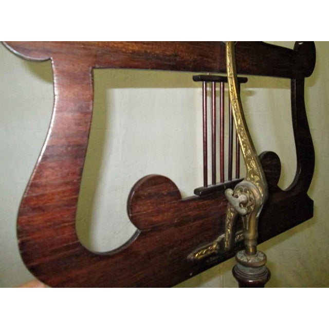 Tindale Carved Mahogany Music Stand For Sale - Image 6 of 7