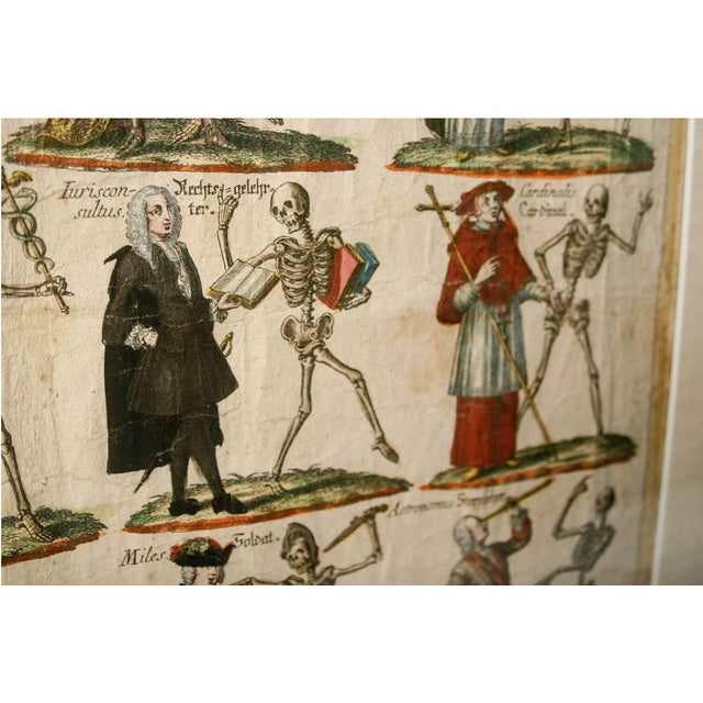 "Late 19th Century 19th Century German ""Dance With Death"" Aquatints Prints - a Pair For Sale - Image 5 of 10"