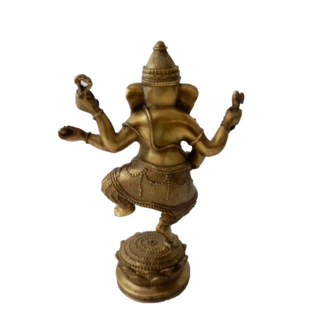 Bronze Bronze Lord Ganesh Sculpture For Sale - Image 7 of 7